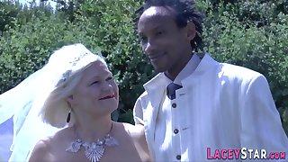 Granny Takes Black Male Stick - Age-old Bride Interracial Sex