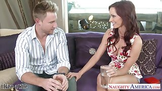 Pretty nextdoor babe Ashley Sinclair has an escapade with one married chap