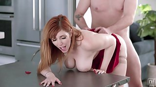 Fucking a thick nuisance redhead mom plus making her beg for
