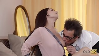 Odd professor bangs seductive student relative to indiscretion and tight sloppy pussy