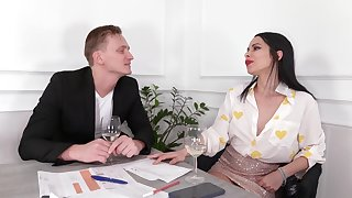 Dirty MILF Jessy Jey eats his ass and makes him cum in her mouth