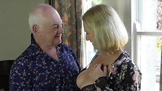 Nude mature gets laid with senior man