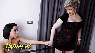 Hairy Step Female parent Seduced Her Feeble-minded 18 Year Old Stepdaughter