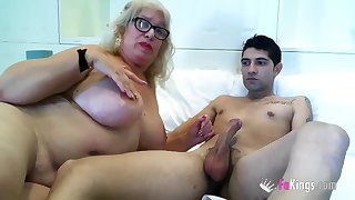 Spanish Granny Knows How Near Handle A Young Cock 2