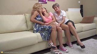 Taboo lesbian love with old and young ladies