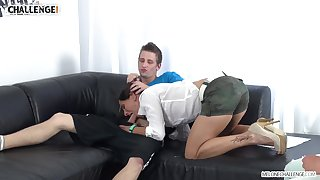Slutty Mea Melone shows how to cause boner and to give a proper blowjob