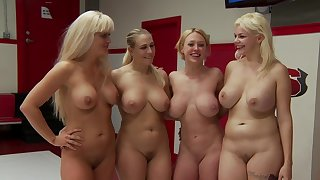 Dee Williams, Holly Heart, Angel Allwood with an increment of Alice Frost's lezbo wrestling
