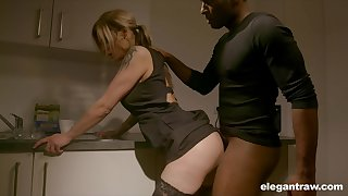Pale nympho with nice irritant Klarissa is properly analfucked away from black stud
