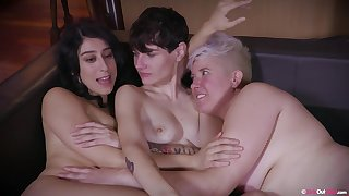Cherlee, Peachy and Violet Russo got down and dirty with each other, get a bang real lesbians