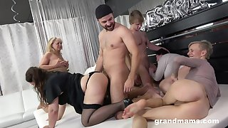 Really wild orgy with dirty like mud mature whores want of orgasm
