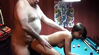 cucky films his gf with chubby old man